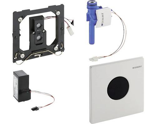 Commande d''urinoir GEBERIT Mambo sans contact infrarouge fonctionnement sur secteur actionnement en acier inoxydable 116.023.FW.1