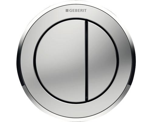 Déclenchement à distance GEBERIT type 10 pneumatique double chasse bouton poussoir pour meuble chrome satiné/chrome brillant/chrome satiné 116.057.KN.1