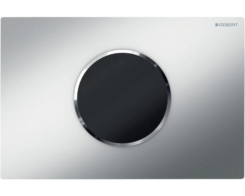 Plaque de commande GEBERIT Sigma 10 HyTronic commande de WC sans contact fonctionnement sur pile chrome mat/chrome 115.908.KN.1