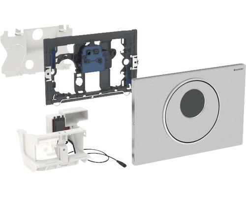 Plaque de commande GEBERIT Sigma 10 commande de WC électronique fonctionnement sur secteur double chasse automatique/sans contact/manuelle acier inoxydable 115.890.SN.5