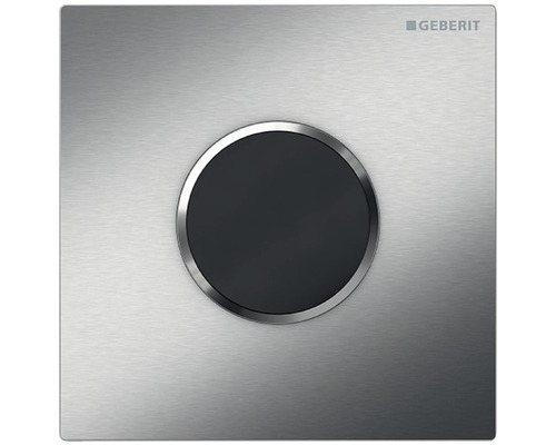 Commande d''urinoir GEBERIT HyTronic Sigma 10 sans contact, fonctionnement infrarouge sur pile acier inoxydable brossé 116.035.SN.1