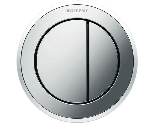 Plaque de commande GEBERIT type 10 pneumatique double chasse bouton poussoir pour meuble chrome brillant/chrome satiné 116.057.KH.1