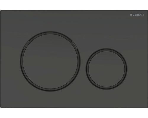 Plaque de commande GEBERIT Sigma 20 noir mat/noir/noir mat 115.882.16.1