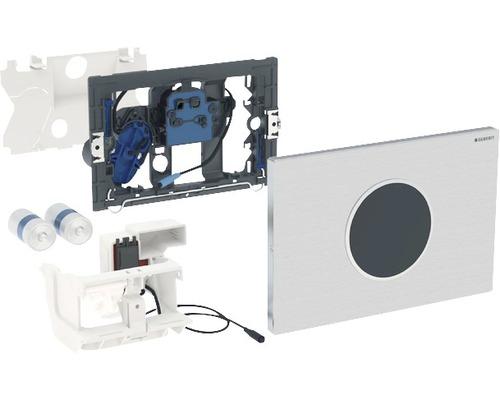Plaque de commande GEBERIT Sigma 10 commande de WC électronique fonctionnement sur pile double chasse automatique/sans contact à visser acier inoxydable 115.909.SN.1