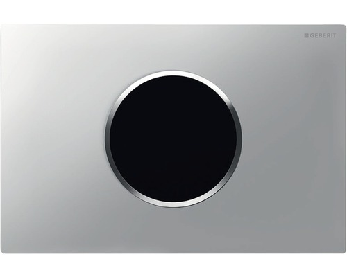 Plaque de commande GEBERIT Sigma 10 HyTronic commande de WC infrarouge sans contact fonctionnement sur secteur chrome mat/chrome 115.907.KN.1
