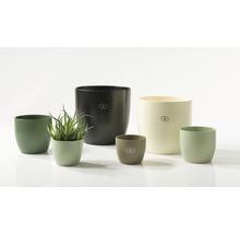 Cache-pot Soendgen Basel Fashion céramique Ø 13 H 12 cm vert mousse-thumb-1