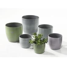 Pot de fleurs Soendgen Bergamo lasure céramique Ø 13 h 12 cm vert feuille-thumb-1
