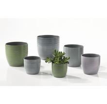 Pot de fleurs Soendgen Bergamo lasure céramique Ø 13 h 12 cm vert feuille-thumb-2