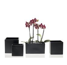 Pot de fleurs Soendgen Latina, céramique, 13x13x13 cm, anthracite-thumb-2