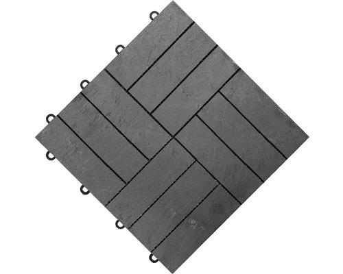 Dalle à clipser florco® stone 4x3 30 x 30 x 2,8 cm ardoise