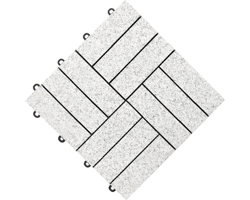 Dalle à clipser florco® stone 30 x 30 x 2,8 cm granit