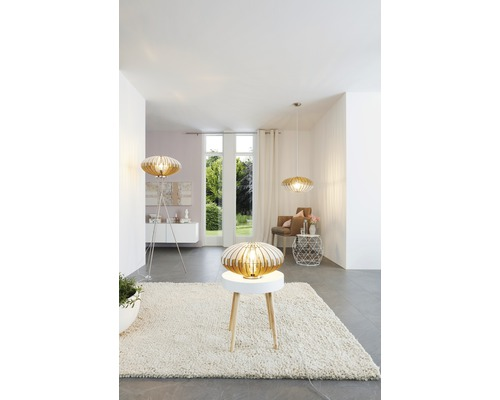 Lampe de table Sotos naturel/blanc 1 ampoule Ø 350 mm h 190 mm