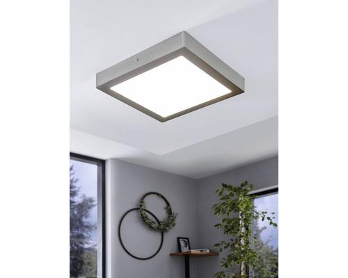 Plafonnier LED RGB CCT nickel/mat/blanc à intensité lumineuse variable 21W 2700 lm 2765 K blanc chaud 300x300 mm