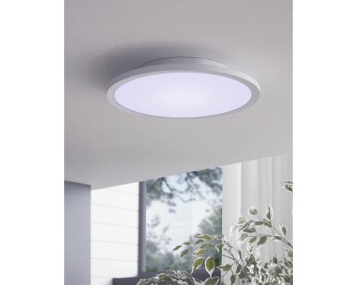 Plafonnier LED à intensité lumineuse variable 16W 2100 lm 2700- 6500 K blanc chaud - blanc naturel RGBW CCT blanc hxØ 50x30 mm
