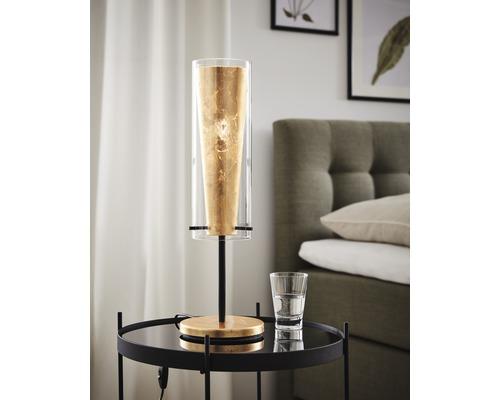 Lampe de table EGLO Pinto or-noir 1 ampoule E27/60 watts