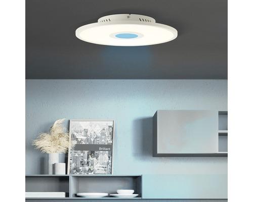 Panneau LED CCT RGB à intensité lumineuse variable 19W 214lm 2700-6500K blanc chaud - blanc lumière du jour hxØ 50x350mm avec télécommande Odella blanc