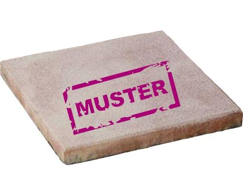 Échantillon de dalle de terrasse en béton iStone Basic ocre-jaune-rose
