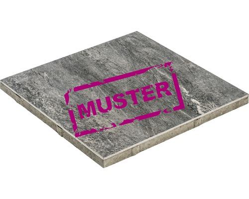 Échantillon de dalle de terrasse en béton iStone Duocera basalte