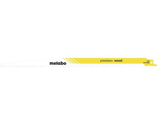 Lames de scie sabre Metabo wood HCS 300mm/4,3mm/6T, 5 pces