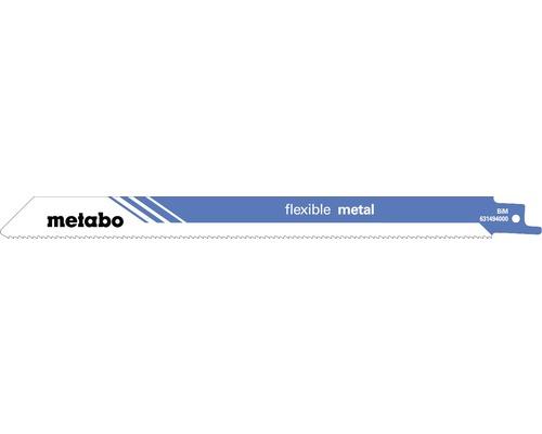 Lames de scie sabre Metabo flex pour métal BIM 225mm/1,8mm/14 T, 5 pces
