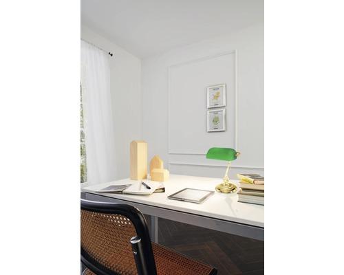 Lampe de bureau 1 ampoule h 390 mm lampe de banquier laiton/vert