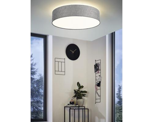 Plafonnier LED RGB CCT à intensité lumineuse variable effet cristal 33W 3500 lm 2700-6500 K blanc chaud - blanc naturel Crosslink gris blanc hxØ 150x570 mm avec télécommande-0