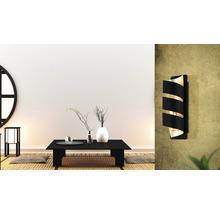 Applique murale métal 1 lumière hxL 270x80 mm Elizondo doré/noir-thumb-0