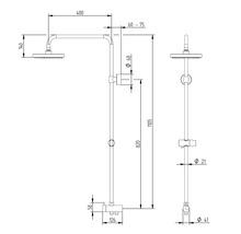 Colonne de douche avec inverseur Schulte Modern plus pomme haute extra plate carré chrome D969272 02-thumb-6