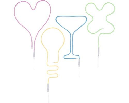 Bande Neon Colorflex USB 4x 1,0 m 4x4,5W rose vif/orange/vert/bleu 4x120 LED 5V