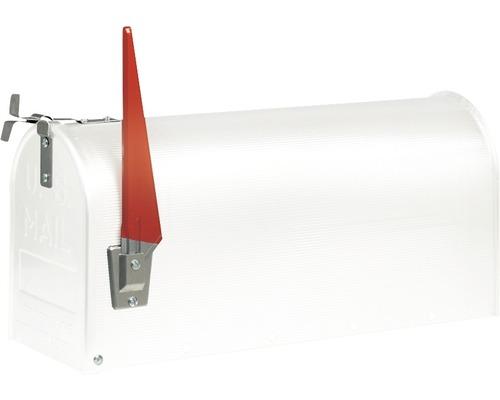 Boîte aux lettres Burg Wächter US-Mailbox acier zingué lxhxp 170/220/480mm blanc