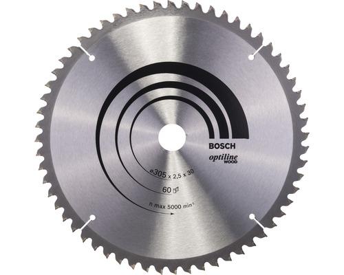 Lame de scie circulaire Optiline Wood B 305x30 mm Z60
