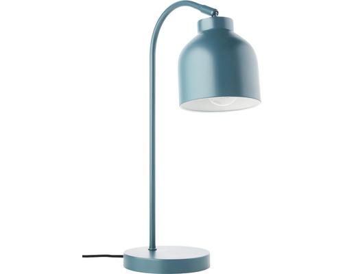 Lampe de table métal 1 ampoule hxLxØ 465x150x275 mm Sven turquoise avec interrupteur intermédiaire à cordon