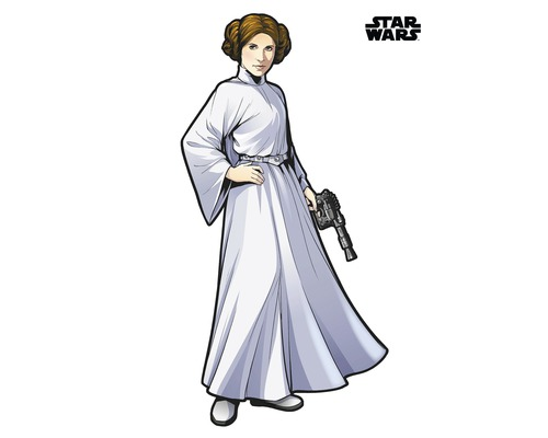 Sticker mural Star Wars XXL Princess Leia 127 x 170 cm