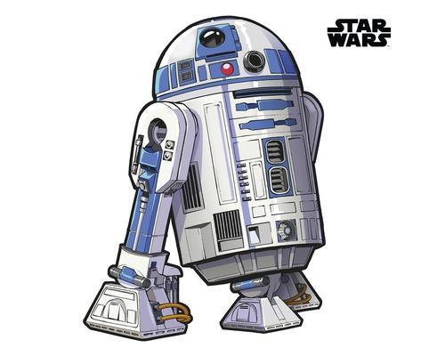 Sticker mural Star Wars XXL R2D2 127 x 120 cm