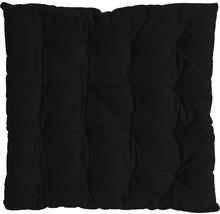 Galette de chaise Mia noir 40 x 40 cm-thumb-0