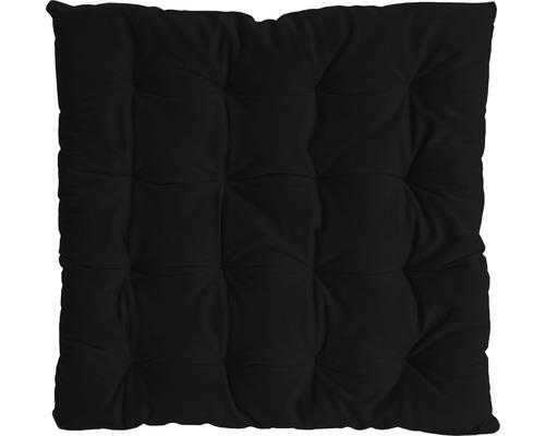 Galette de chaise Mia noir 40 x 40 cm-0