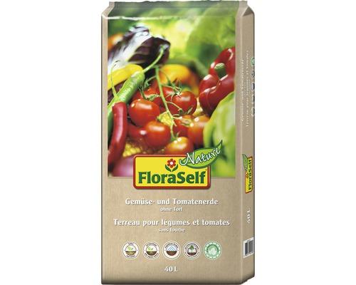 Terreau pour tomates et légumes FloraSelf Nature 40 L
