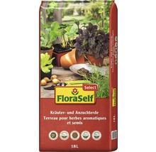 Kräuter und Anzuchterde FloraSelf Select 18L-thumb-0