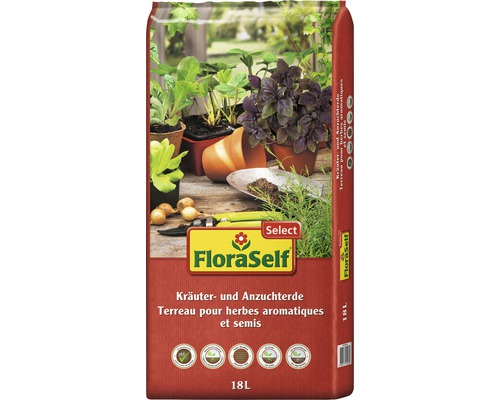 Kräuter und Anzuchterde FloraSelf Select 18L