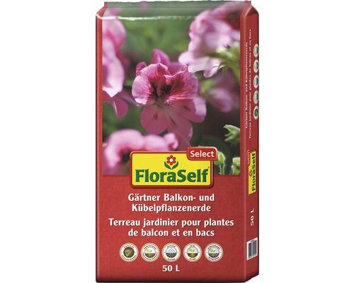 Balkon- und Kübelpflanzenerde FloraSelf Select 50 L