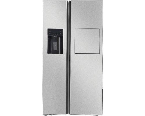 Réfrigérateur américain Wolkenstein W-SBS590.4A+ICMBIXK lxhxp 91.10 x 178 x 70.60 cm compartiment de réfrigération 372 l compartiment de congélation 171 l