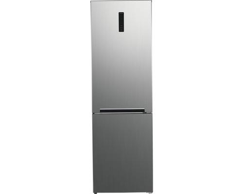 Réfrigérateur-congélateur Wolkenstein WKG361+NF IX M lxhxp 60 x 195 x 68.50 cm compartiment de réfrigération 243 l compartiment de congélation 104 l