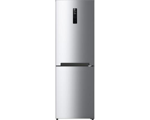 Réfrigérateur-congélateur Wolkenstein WKG315NF IX-M lxhxp 60 x 185 x 69 cm compartiment de réfrigération 219 l compartiment de congélation 104 l