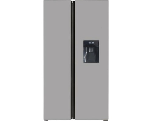 Réfrigérateur américain Wolkenstein SBS490NFWD IXK lxhxp 83.60 x 178 x 63.60 cm compartiment de réfrigération 267 l compartiment de congélation 173 l