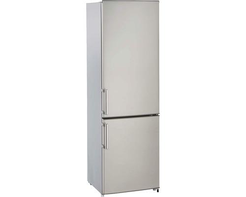 Réfrigérateur-congélateur PKM KG249.4A++IX lxhxp 55 x 180 x 55.80 cm compartiment de réfrigération 198 l compartiment de congélation 71 l