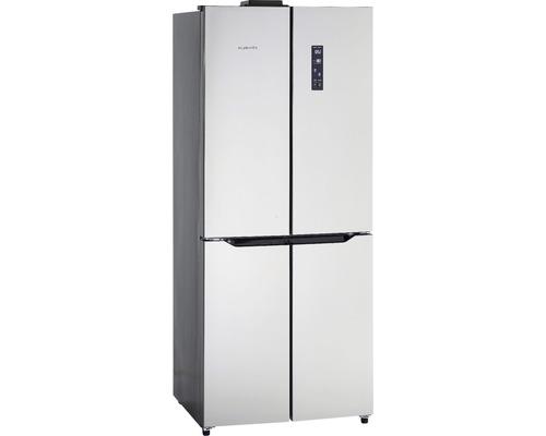 Réfrigérateur multi-portes Wolkenstein WCD400A++NF IX lxhxp 75.30 x 184.70 x 68 cm compartiment de réfrigération 259 l compartiment de congélation 120 l