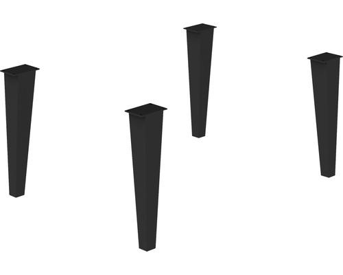Set de pieds en métal Delta noir 4 pièces 29 cm