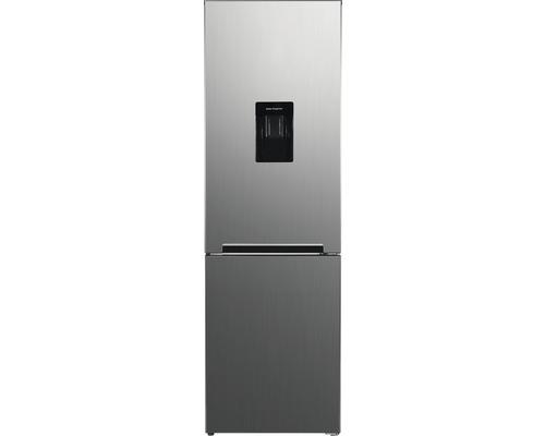 Réfrigérateur-congélateur Wolkenstein WKG312NFWD IX-M lxhxp 60 x 185.80 x 60 cm compartiment de réfrigération 208 l compartiment de congélation 83 l