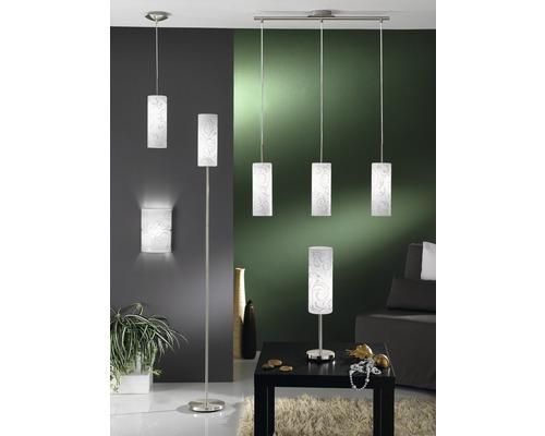 Éclairage mural Amadora 1 ampoule nickel mat/blanc L18xH25 cm