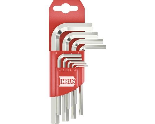 Jeu de clés 6 pans INBUS 70150 1.5–10mm 9 pces